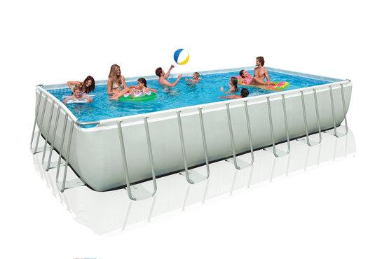 INTEX Frame Pool Set Ultra Quadra 732 X 366 X 132 Cm   Leiter, Abdeck