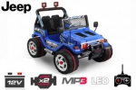 Elektro Kinderauto JEEP STYLE | 2 x 30W | 2 x 6V | MP3 | RC Kinder Elektroauto in blau